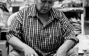 Woman Selling Rambutan