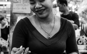 Woman Making Phuang Malai