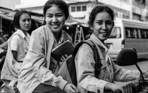 Three School Girls