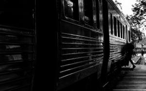 Train In Mae Klong Station