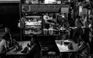 Food Stall In Mae Klong Station