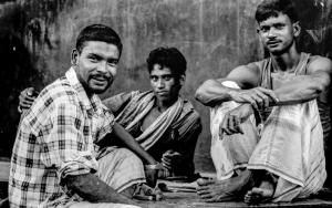 Three Resting Laborers