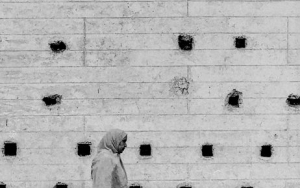 Holes On The Wall And Pedestrians