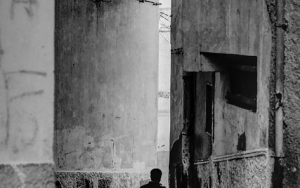 Figure Vanishing From Sight