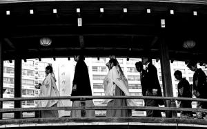 People On The Wooden Bridge