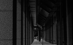 Row Of Square Pillars