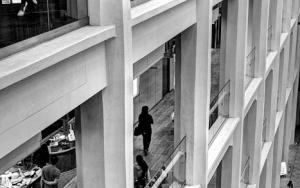 People Walking On The Each Floors