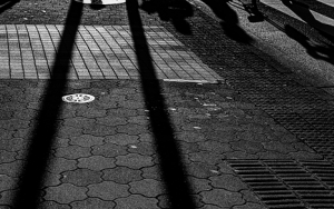 Long Shadows At The Crossing