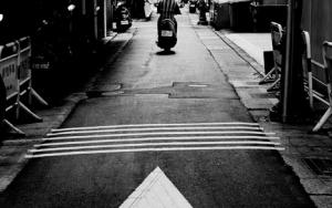 Motorbike Ahead Of An Arrow