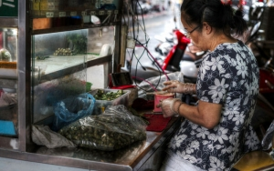 Woman Selling Betel Nuts