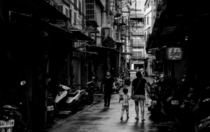 Parent And Child In The Alleyway