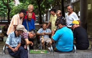 Men Around The Xiangqi Board